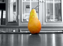 Pear nibble. The vegetable Pear nibble object Stock Image