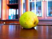 Pear nibble. The vegetable Pear nibble object Royalty Free Stock Photos