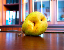 Pear nibble. The vegetable Pear nibble object Stock Photos