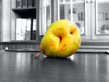 Pear nibble. The vegetable Pear nibble object Royalty Free Stock Photography