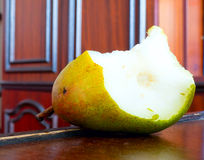 Pear nibble. The vegetable Pear nibble object Royalty Free Stock Image