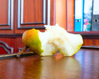 Pear nibble. The vegetable Pear nibble object Royalty Free Stock Photo