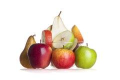 Pear och äpplen Royaltyfri Bild