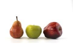 Pear och äpplen Fotografering för Bildbyråer