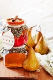 Pear and orange jam Stock Photos