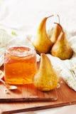 Pear and orange jam Stock Photo