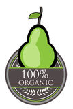 Pear Organic label Royalty Free Stock Photo