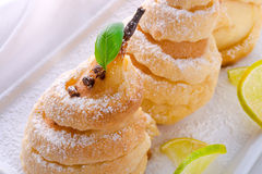 PEAR in pastry Royalty Free Stock Photo