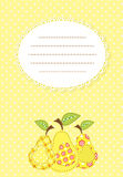 Pear patchwork background Stock Photography
