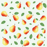 Pear pattern Royalty Free Stock Images