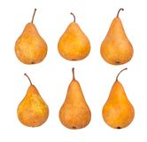 Pear. Path isolated on white royalty free stock photography