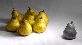 Pear,pears. War situation Royalty Free Stock Images