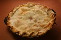 Pear Pie. On brown background Stock Image
