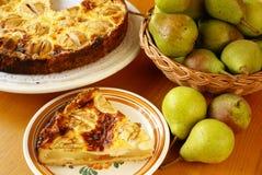Pear pie Stock Photos