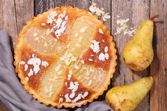 Pear pie with almonds Royalty Free Stock Photography