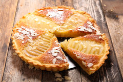 Pear pie with almonds Royalty Free Stock Image