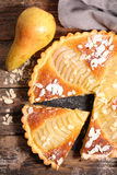 Pear pie with almonds Stock Image