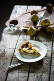 Pear pie with a lattice. Pear and gorgonzola pie with a lattice Royalty Free Stock Photo