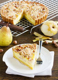 Pear pie with nuts Stock Image