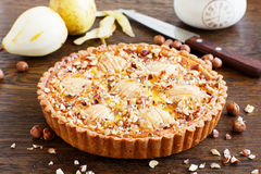 Pear pie with nuts Stock Photo
