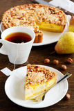 Pear pie with nuts Stock Photography