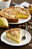 Pear pie with nuts Royalty Free Stock Image
