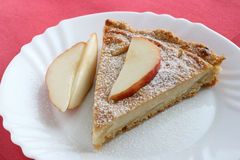 Pear pie with pear Royalty Free Stock Images