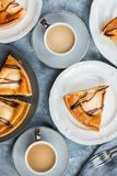 Pear pie or tart, Autumn comfort food, top view Stock Photo
