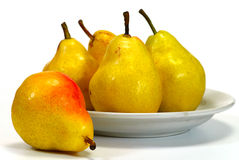 Pear on a plate Royalty Free Stock Photo