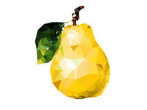 Pear. By polygon . Vector illustration Royalty Free Stock Photos