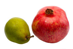 Pear and Pomegranate Stock Photography