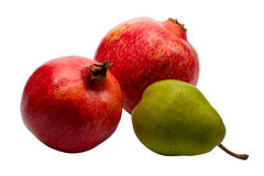 Pear and Pomegranate Royalty Free Stock Photos