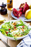 Pear with Pommegranate and Rocket salad Royalty Free Stock Photography