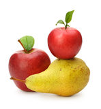 Pear and red apples Royalty Free Stock Image
