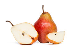 Pear. Red pear isolated on white background. Studio shot stock images