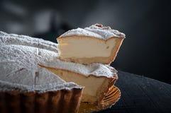 Pear. Restaurant dessert plating in studio light Royalty Free Stock Image