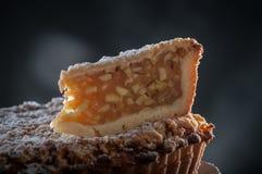 Pear. Restaurant dessert plating in studio light Stock Image