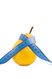Pear ruler isolated on white Royalty Free Stock Image