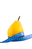 Pear ruler isolated on white. Royalty Free Stock Photography