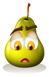 Pear with sad face Royalty Free Stock Images