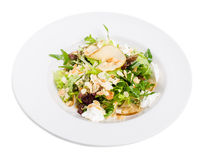 Pear salad with goat cheese and almonds. Royalty Free Stock Photos