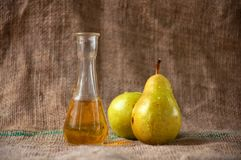 Pear schnapps Stock Photography
