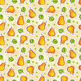 Pear seamless pattern Royalty Free Stock Images