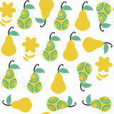 Pear seamless pattern. It is located in swatch menu,  imag Stock Photography