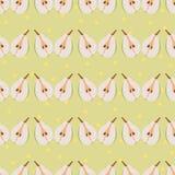 Pear seamless pattern Stock Photo