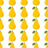 Pear Seamless Pattern Stock Photos