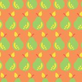 Pear seamless vector pattern hand drawn background vector illustration