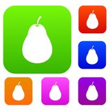 Pear set collection Stock Image