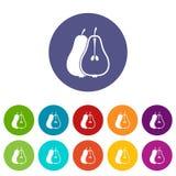 Pear set icons Stock Photo