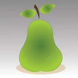 Pear. With shadow effect on gradient background Stock Photo